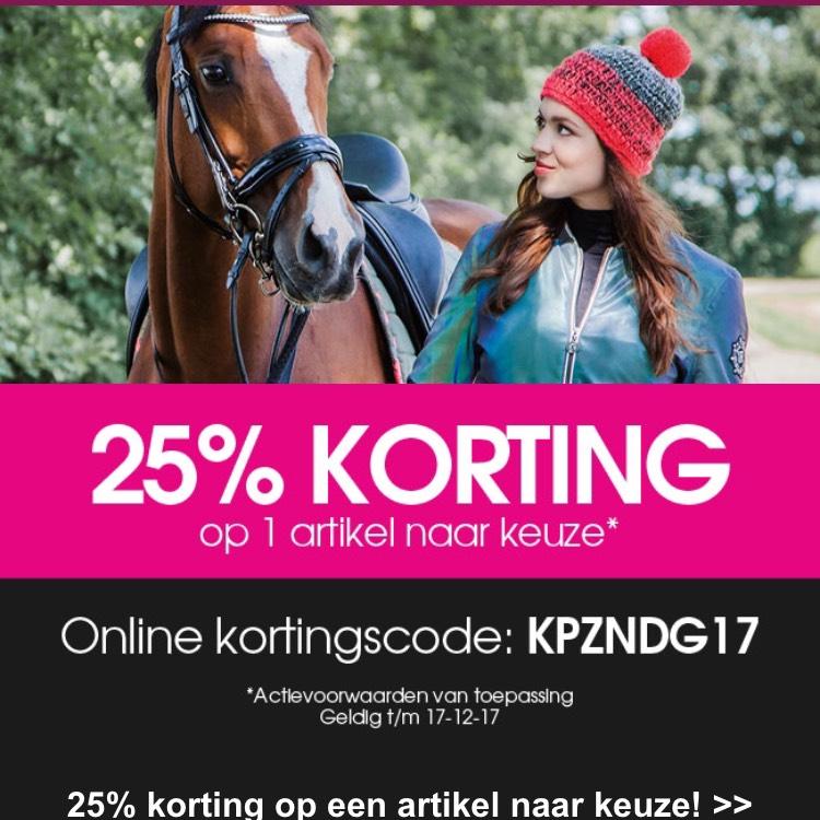 25% korting op 1 artikel naar keuze bij Divoza