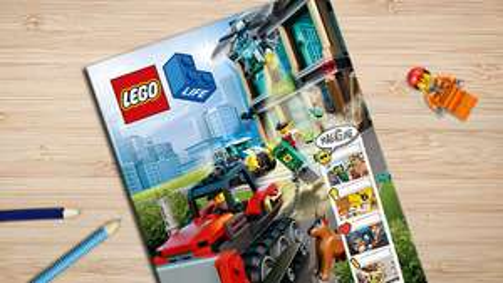 Gratis lego magazine voor kinderen tussen de 5 en 9.