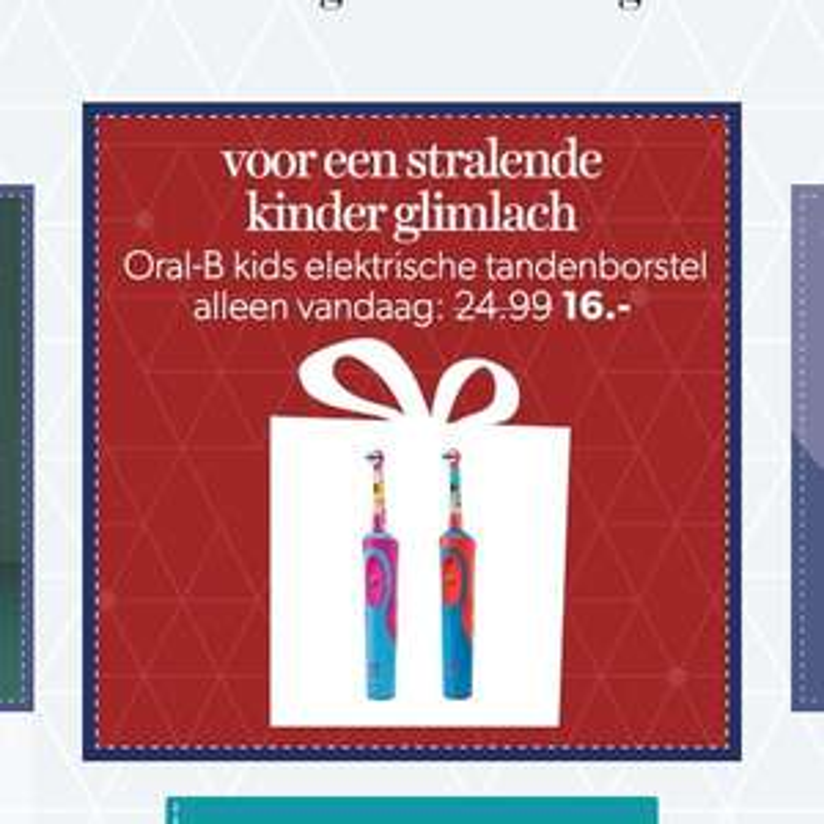 Oral b kindertandenborstel (€11)
