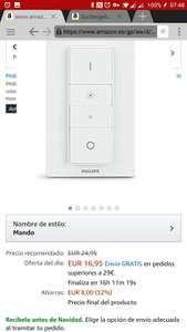 Philips HUE switch voor €16,95 @ Amazon.es