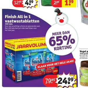Finish All in 1 vaatwastabletten jaarvolume @ Kruidvat