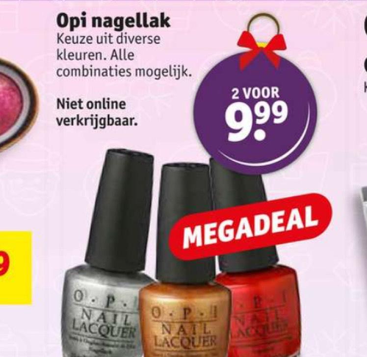 Kruidvat: Opi nagellak twee voor €9,99 of 5,99 per stuk