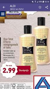 Aldi: Olaz Total Effects reinigingsmelk of tonic (van 22-12 t/m 25-12)