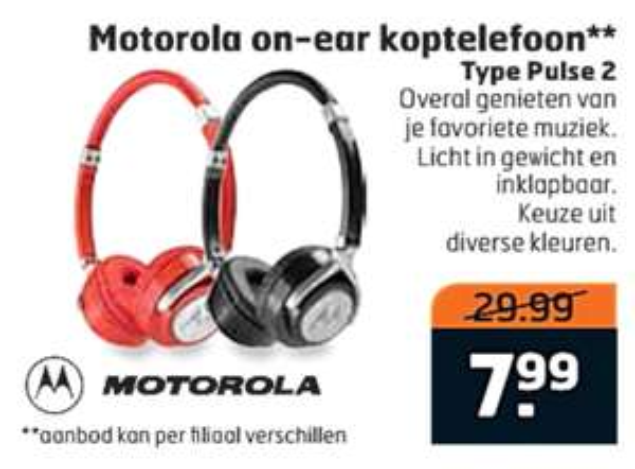 Trekpleister: Motorola Pulse 2 koptelefoon