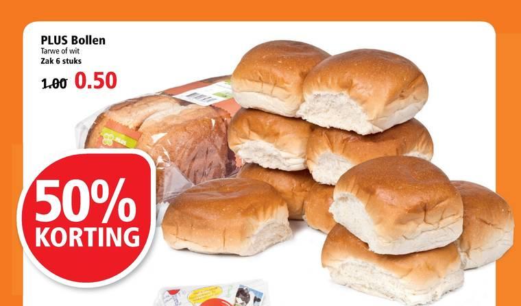 Zak 6 broodjes voor € 0,50 @ Plus