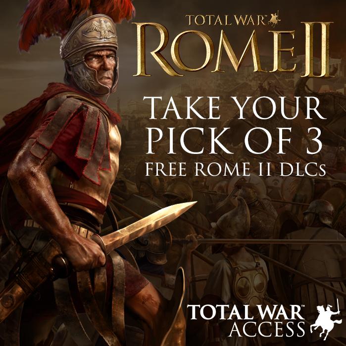 [GRATIS STEAM GAME DLC] Total War: ROME II (kies 1 van de 3)