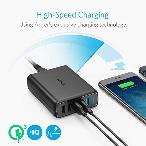 Anker PowerPort Dual Quick Charge 3.0 laadslot en 3 power IQ poorten