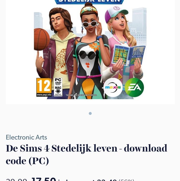 De Sims 4 Stedelijk leven - download code (PC) nu 17,50