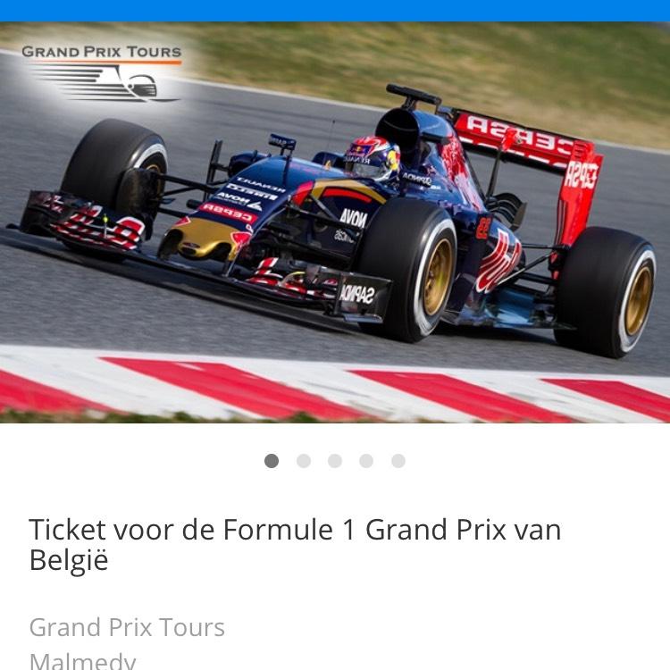 Tickets grand prix van belgie