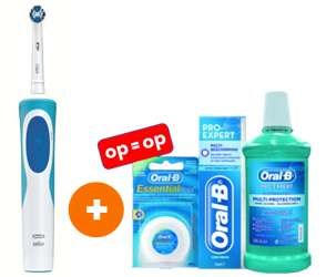 Oral-B Vitality Precision Clean + gratis poetspakket t.w.v. €12,95 voor €22,- of twee voor €36,50 door code @ Bobshop