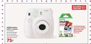 instax camera + gratis colourfilm bij HEMA