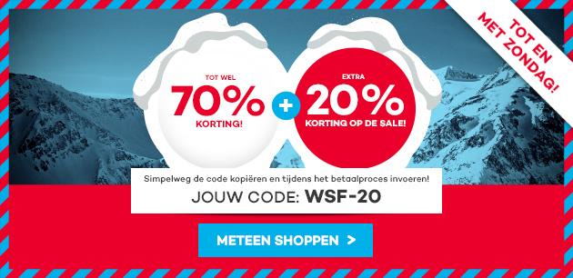 20% extra korting bovenop de winter sale finale door code @ Planet Sports