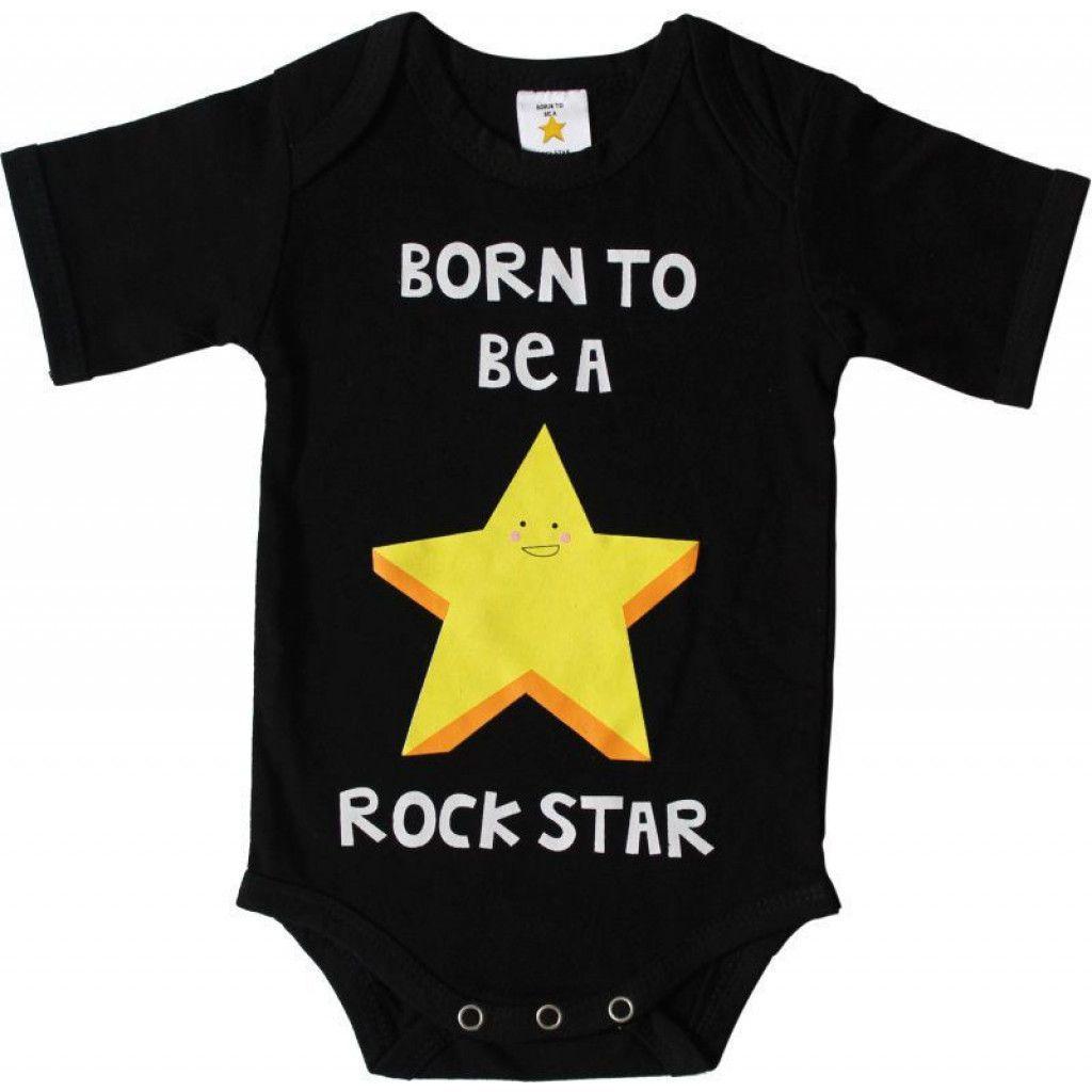 Van €9,99 naar €1,99 Born To Be A Rockstar romper Maat 50/56