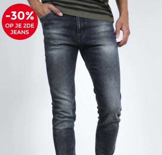 30% extra korting op je tweede jeans (ook sale) + code 10e korting bij score