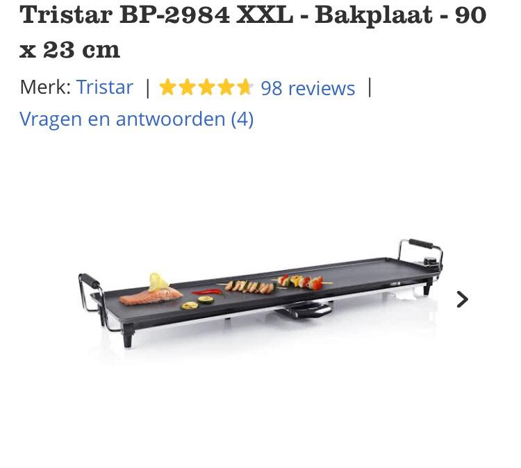Tristar BP-2984 XXL - 90 x 23 cm €29,95 @bol.com