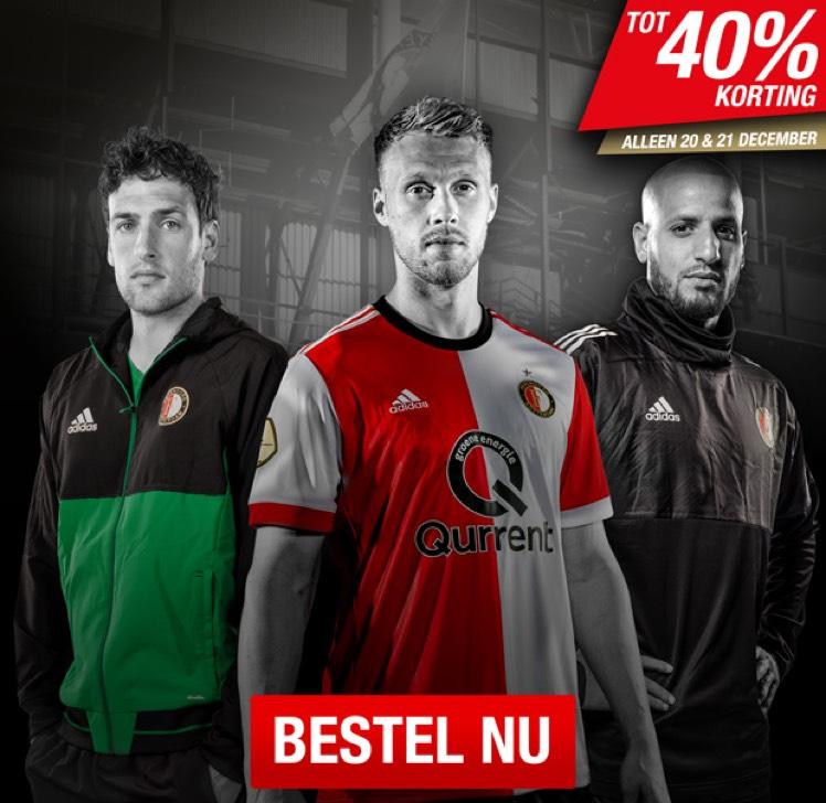 Tot 40% korting in de Feyenoord Fanshop