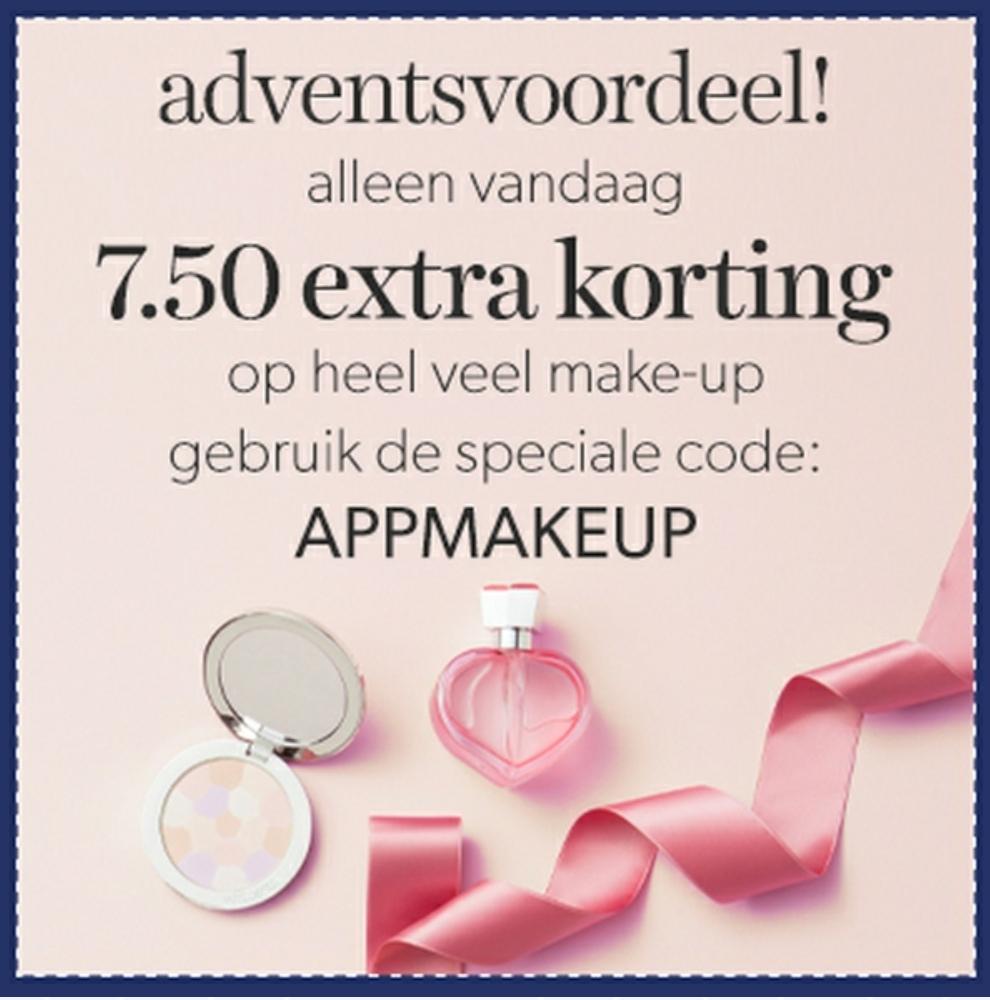 € 7,50 extra korting op heel veel make-up @ wehkamp.nl