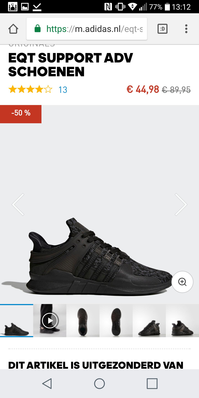 EQT SUPPORT ADV SCHOENEN voor €44,98 @ Adidas