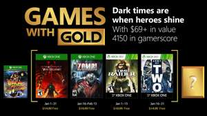 Gratis games with gold januari @ Xbox