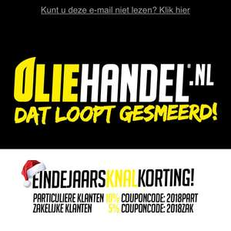 10% korting op olie bij oliehandel.nl