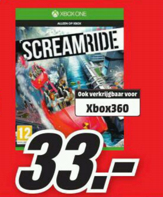 Screamride (Xbox One) voor €33,- Media Markt (vanaf maandag)