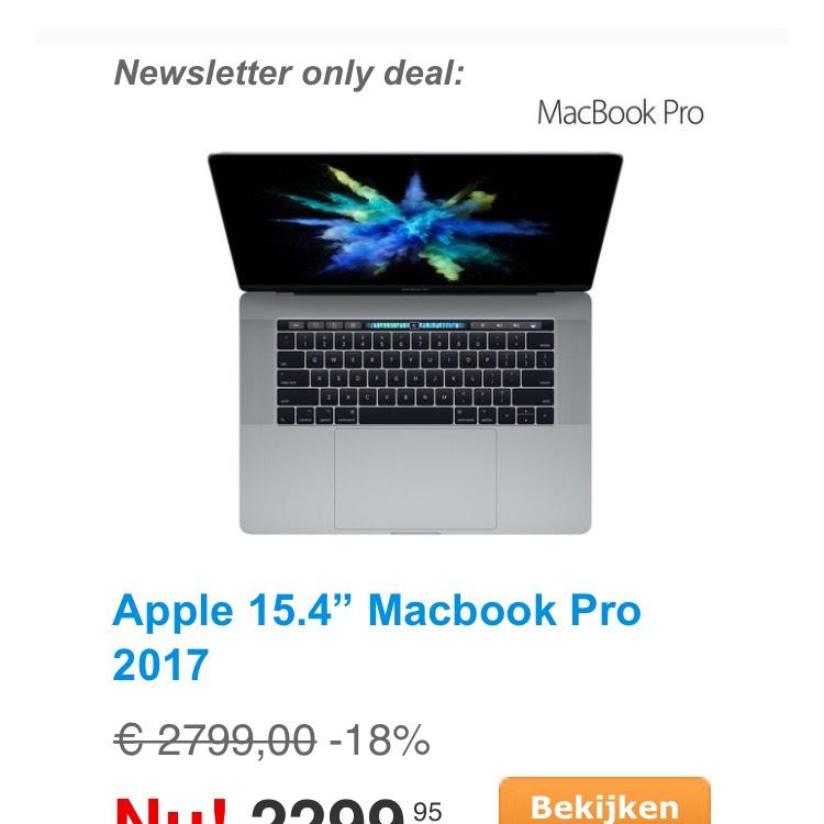 MacBook Pro 2017 15inch