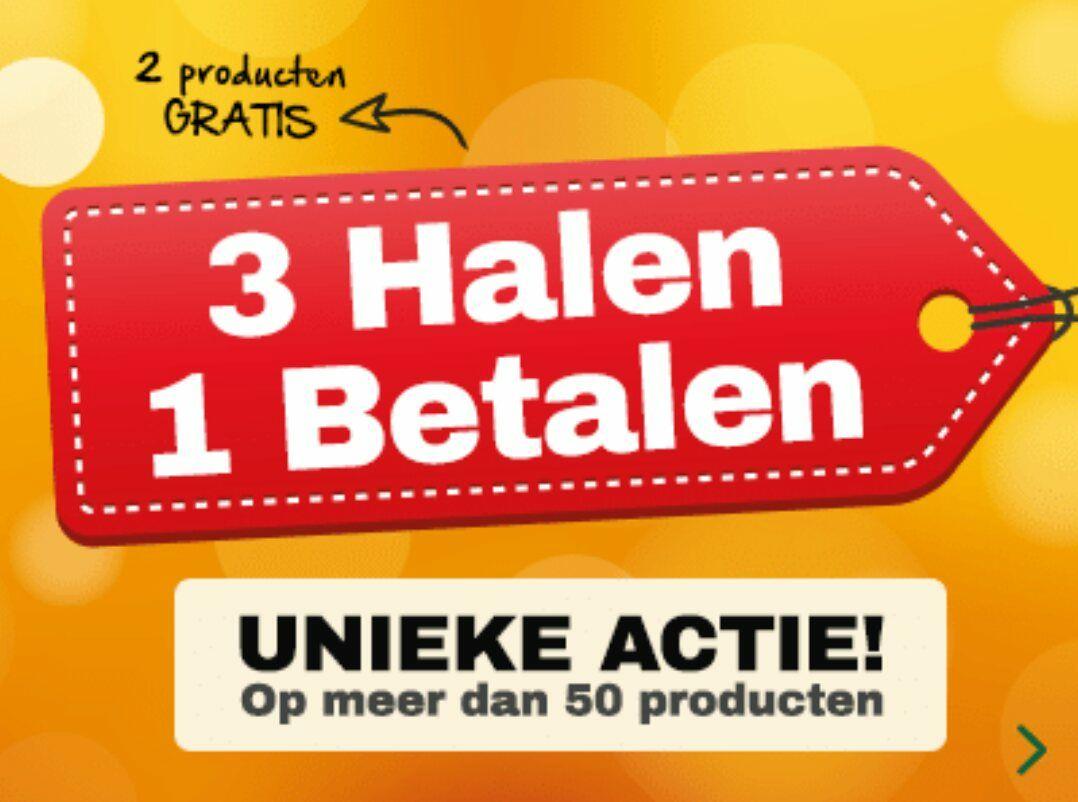 3 halen = 1 betalen op meer dan 50 producten @ Holland & Barrett
