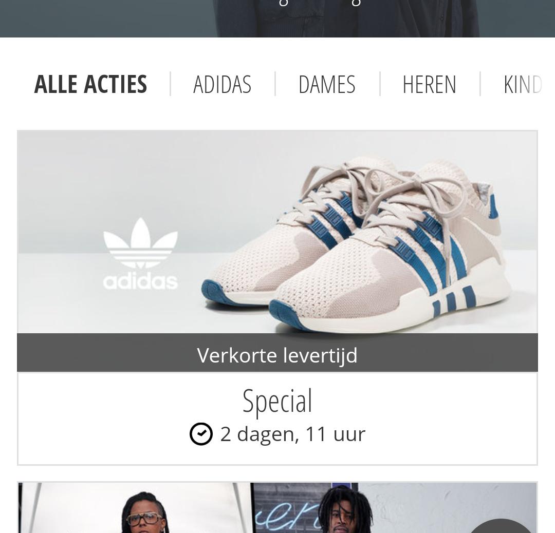Korting op adidas sneakers bij Zalando lounge