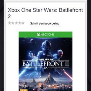 Xbox one starwars battlefront 2 Euro 32,99