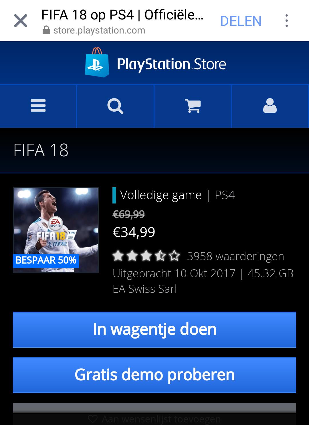 FIFA 18 in de SALE
