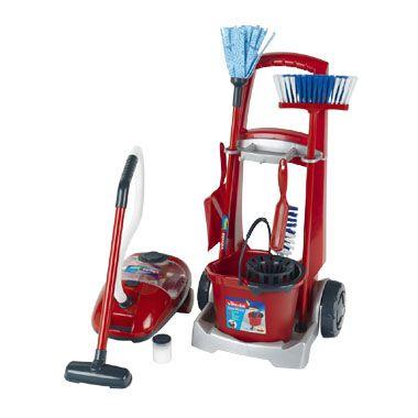 Vileda Junior schoonmaaktrolley en stofzuiger @Blokker.nl