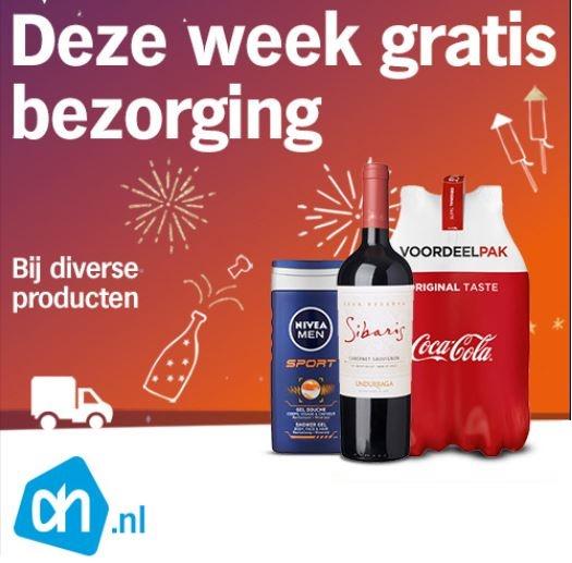 Deze week gratis bezorging bij aankoop diverse producten @ Albert Heijn