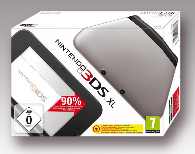 Nintendo 3DS XL console - zwart/zilver voor €134,99!