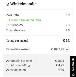 Apple iPhone X | €1054,25 met 1 maand 2GB Data en 100 sms/belminuten | Tele 2