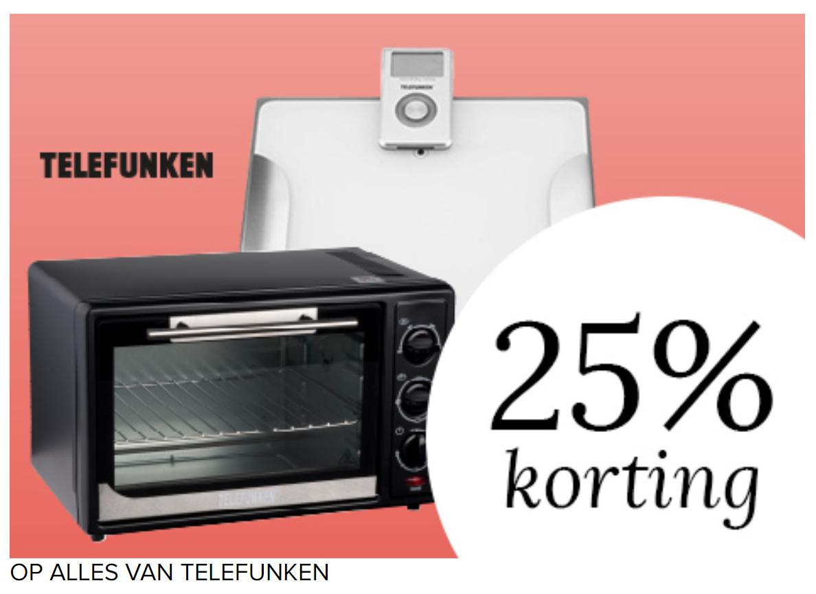 25% korting op alles van Telefunken @ Kijkshop