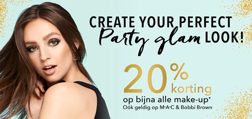 20% korting make-up @ douglas