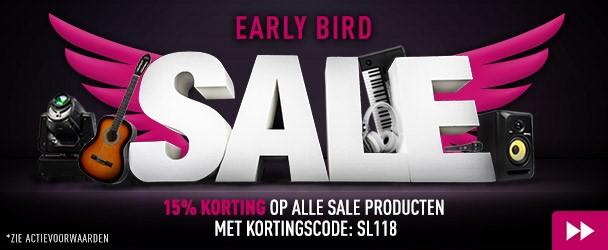 15% korting bij Bax Music op alle SALE-producten met kortingscode SL118
