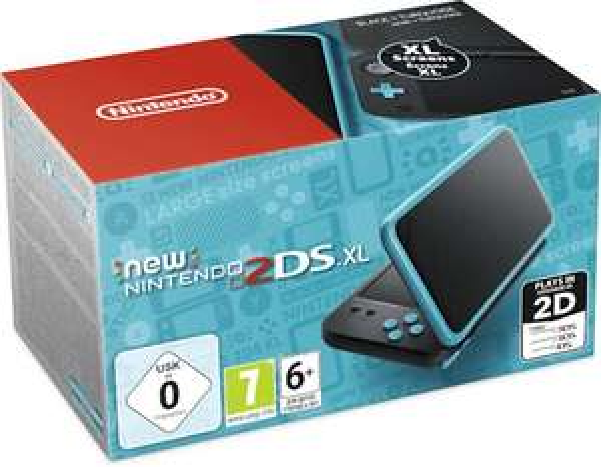 Nintendo 2DS XL in Zwart/Turquoise en Wit/Oranje
