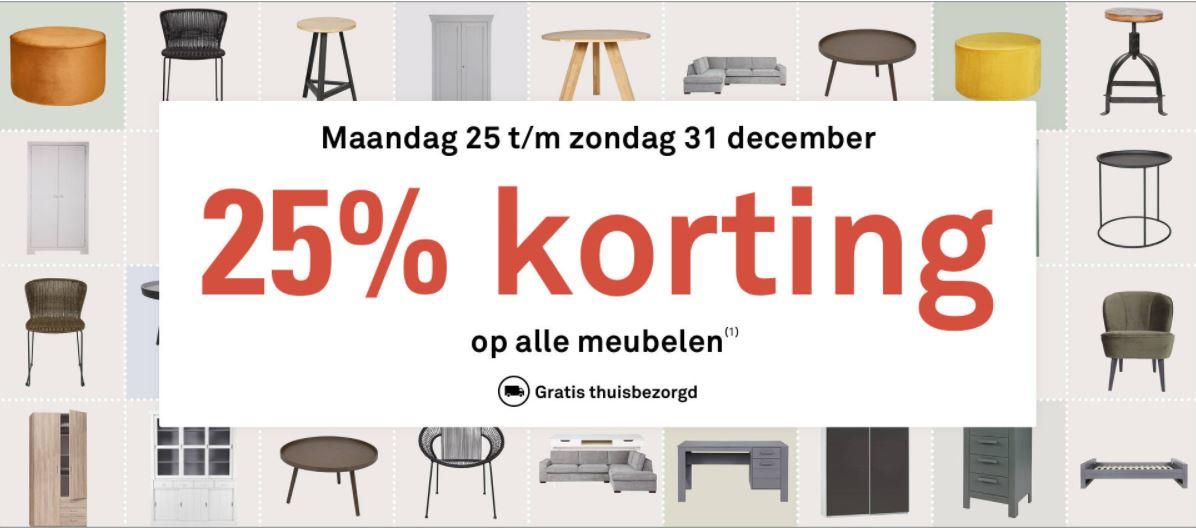 Actie: 25% korting op alle meubelen + gratis thuisbezorgd @ Karwei