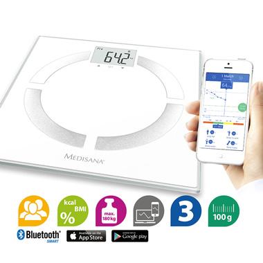 [UPDATE: nu €13,99] Medisana BS 444 Bluetooth Connect weegschaal voor €16,79 @ Blokker