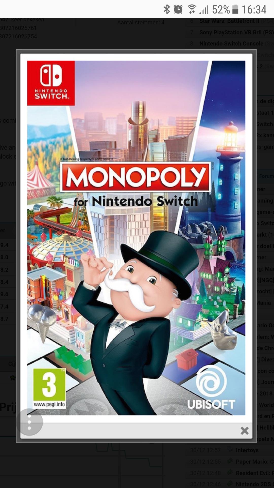 Monopoly voor de Switch: €25