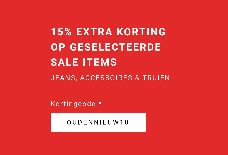 Zalando vandaag nog 15% EXTRA korting op jeans truien en accessoires