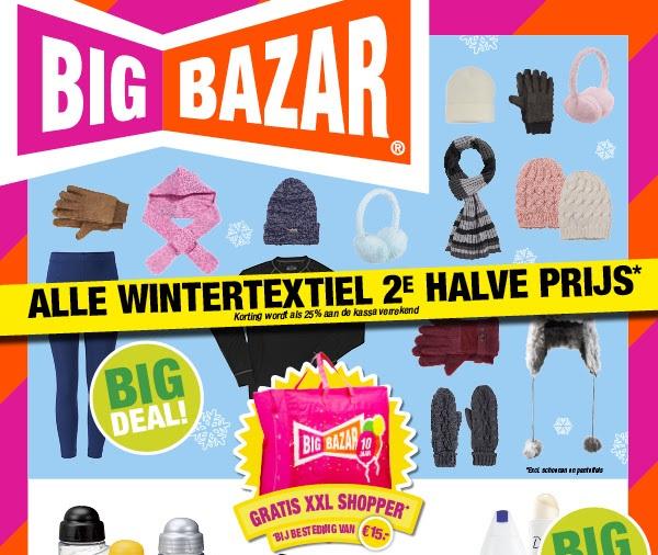 Alle wintertextiel 2e halve prijs @ Big Bazar