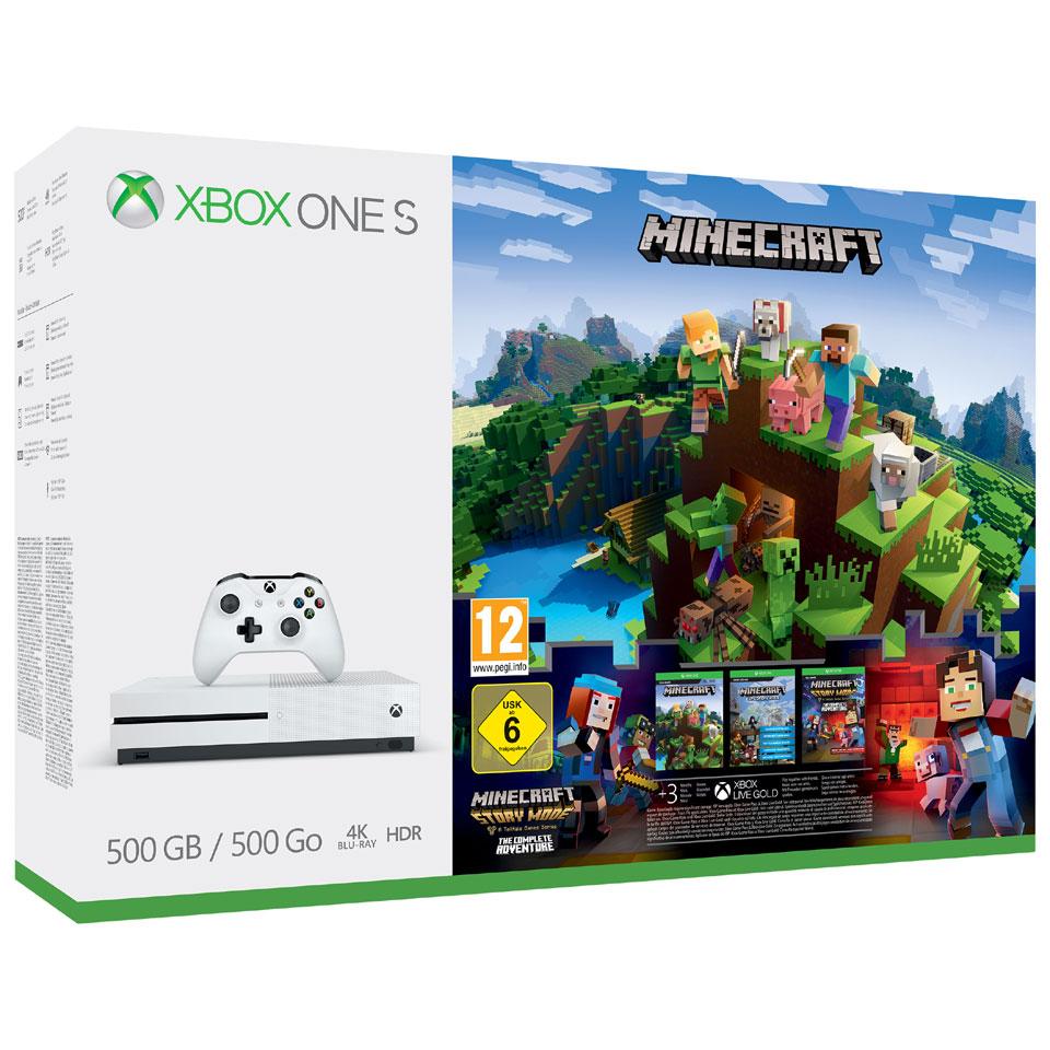 XBOX One S 500 GB + Minecraft Complete Adventure + extra controller + Forza Motorsport 7 voor 219 @ bartsmit.com