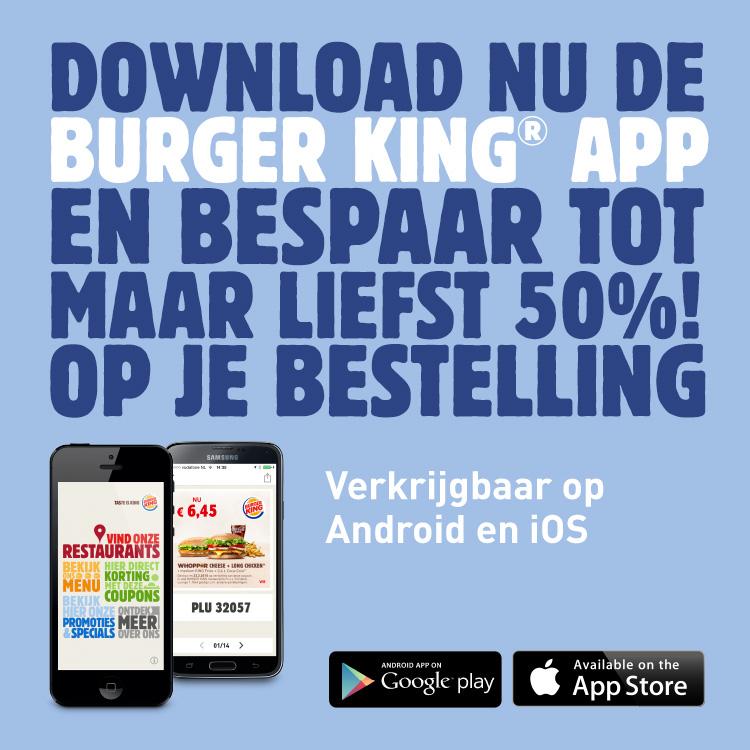 Tot 50% korting door kortingscoupons @ Burger King