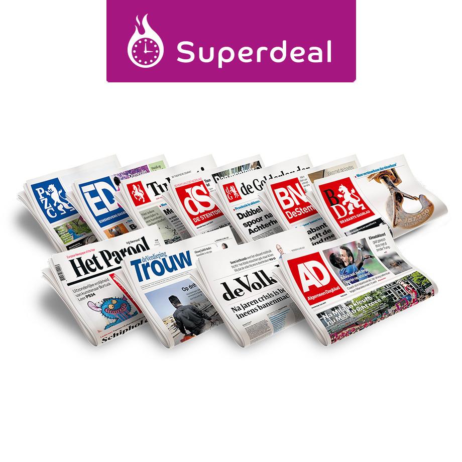 Via Optimel spaarshop Krantcadeaukaart 5 weken voor 7,50 euro of 10 weken voor 12,50 euro