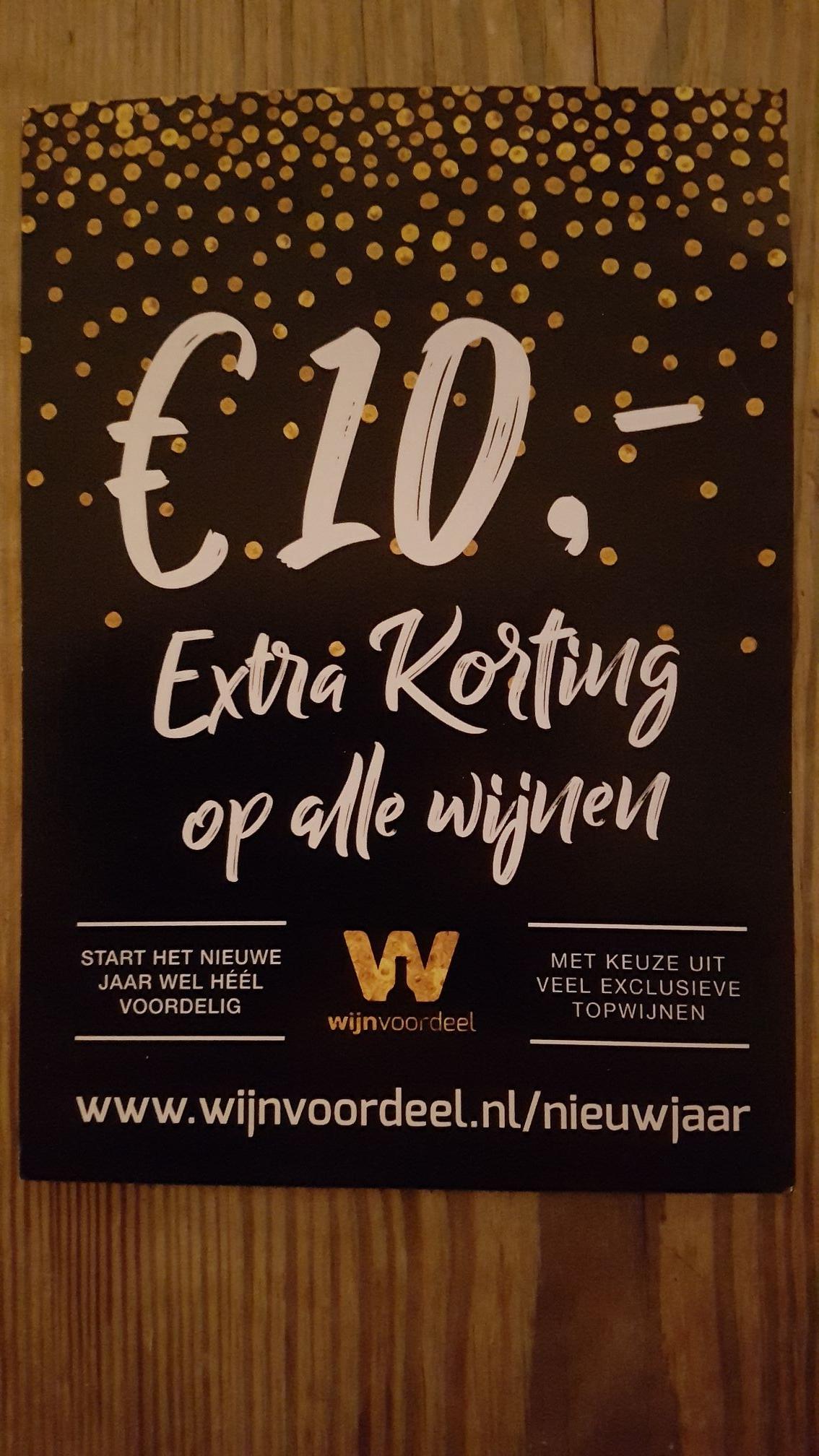 10 euro extra korting Wijnvoordeel.nl