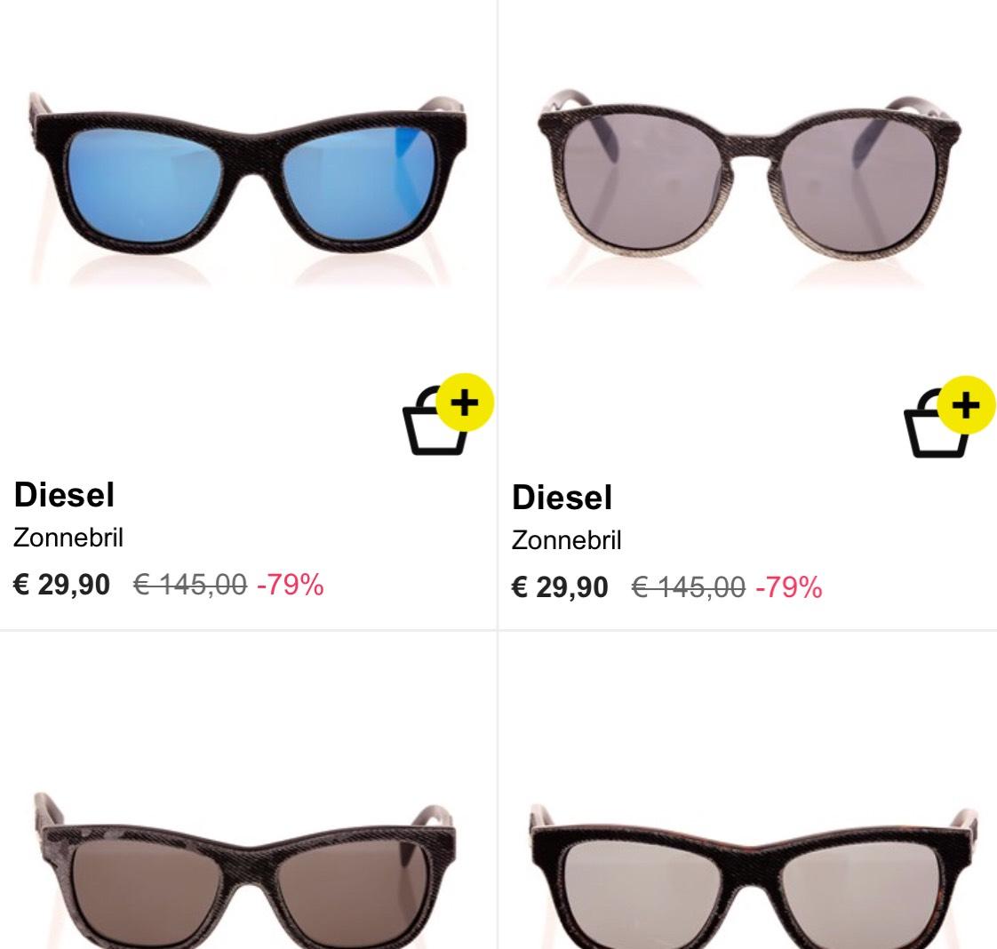 DIESEL heren zonnebrillen van €145,- voor €29,90