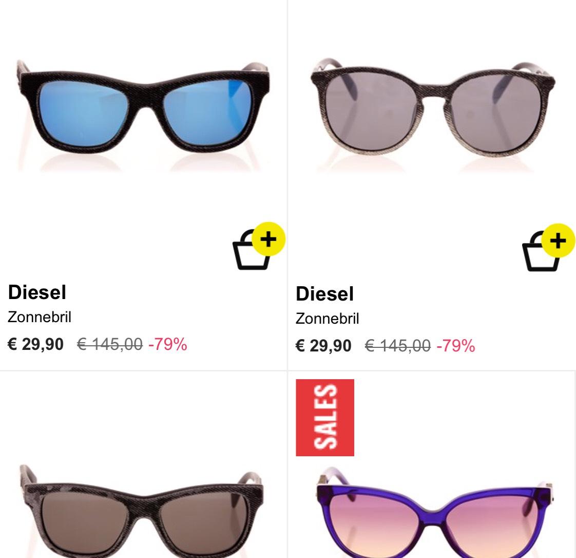 DIESEL dames zonnebrillen vanaf €19,90