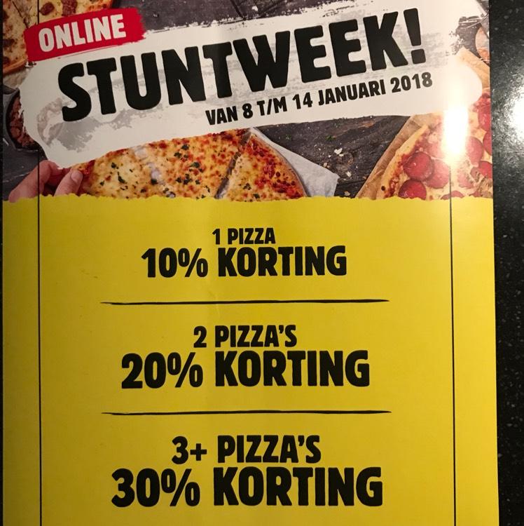 Online stuntweek van 8 t/m 14 januari @Domino's